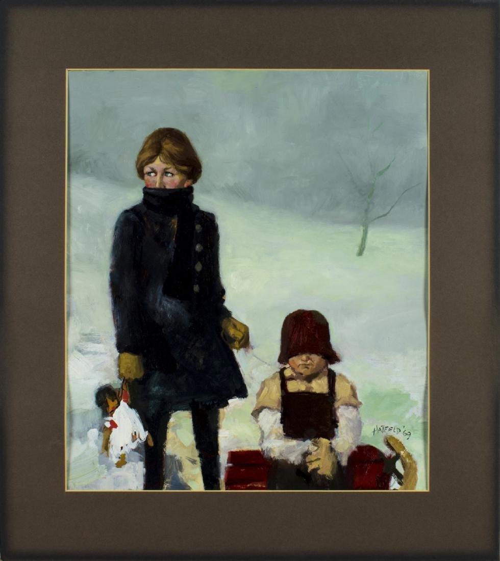David Hatfield (NY,NJ,born 1940) oil painting - 3