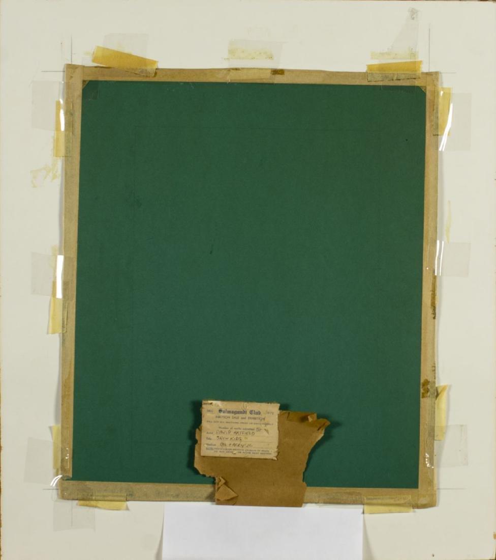David Hatfield (NY,NJ,born 1940) oil painting - 8