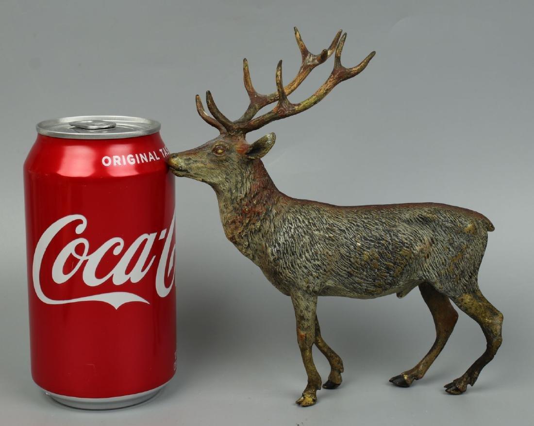 Antique Austrian Bronze Deer Stag cold painted - 10