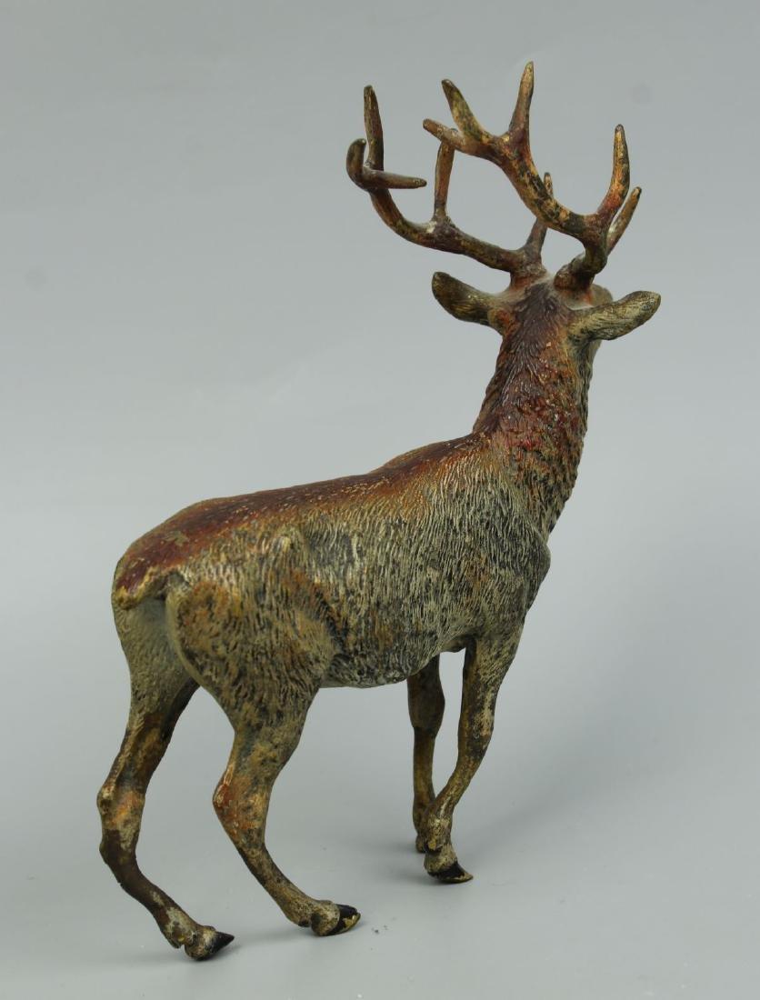 Antique Austrian Bronze Deer Stag cold painted - 5