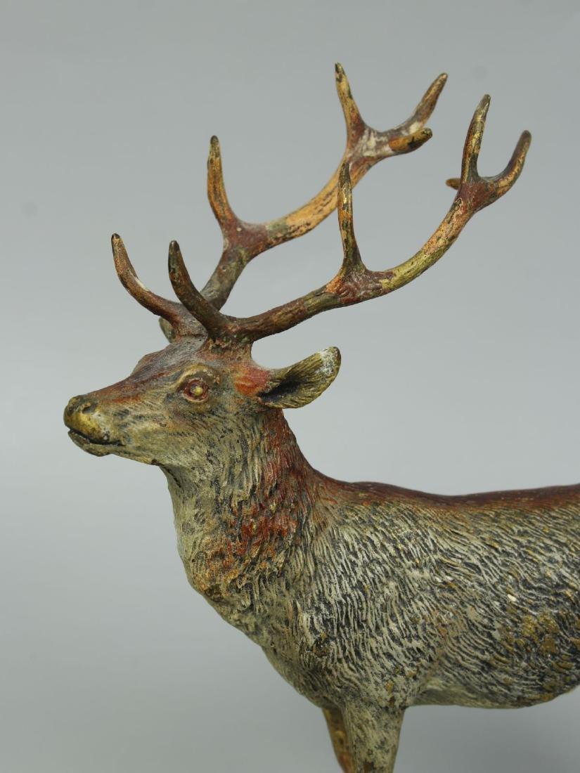 Antique Austrian Bronze Deer Stag cold painted - 7
