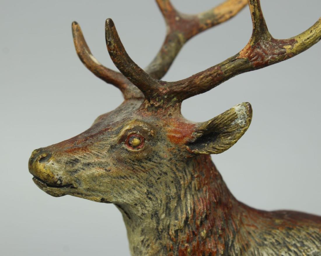 Antique Austrian Bronze Deer Stag cold painted - 8