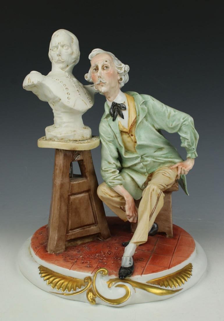 "Capodimonte Giuseppe Cappe Figurine ""The Sculptor"" - 5"