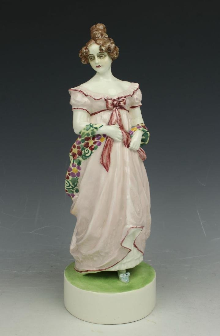 "Goldscheider Wien figurine 4674 ""Lady with Shawl"""