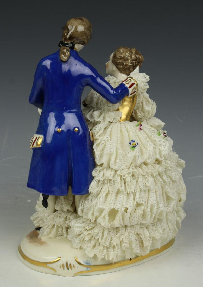 "Ackermann & Fritze Dresden lace figurine ""Courting - 5"