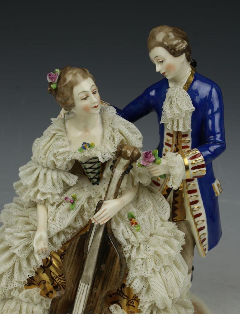 "Ackermann & Fritze Dresden lace figurine ""Courting - 7"
