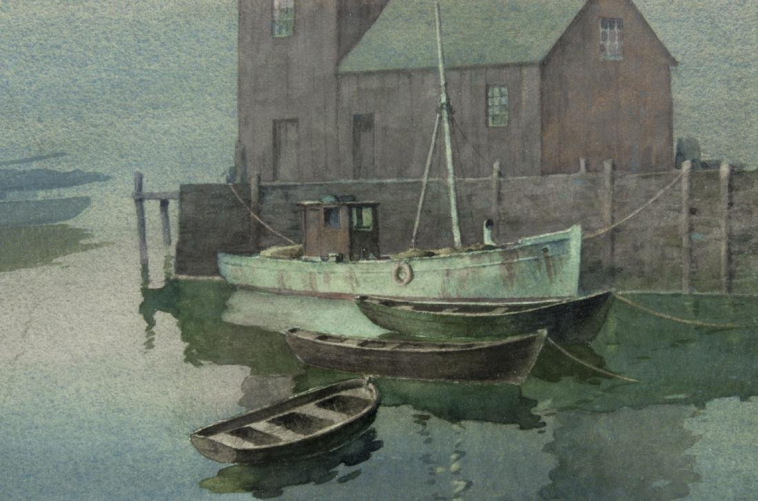 James Settles (US,1902-1957) watercolor painting - 5