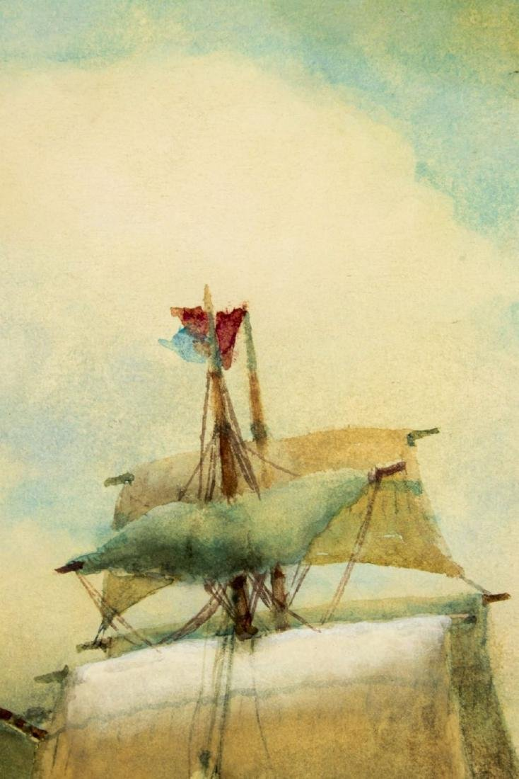 James Gale Tyler (NY,CT,1855-1931) watercolor on paper - 6