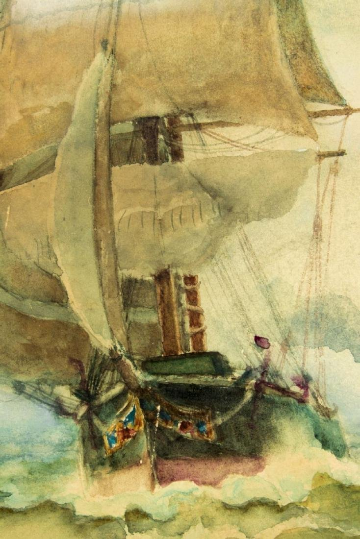 James Gale Tyler (NY,CT,1855-1931) watercolor on paper - 7