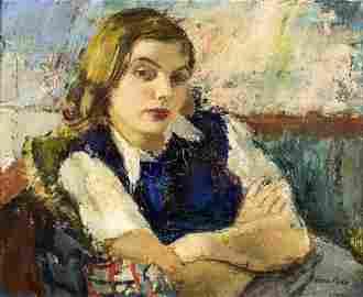 Sergius Pauser (Austrian,1896-1970) oil painting
