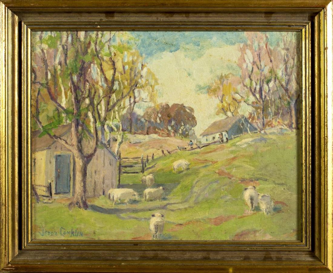 Jessie Conklin (New York,1886-1977) oil painting