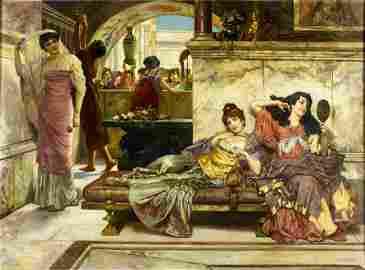 Emanuel Oberhauser (austrian,1854-1919) oil painting
