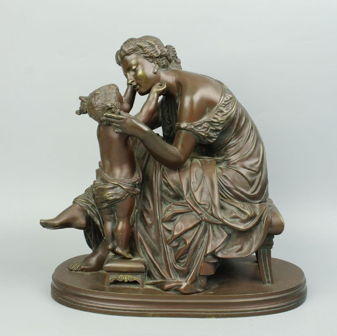 """19C French Bronze """"Mother and Child"""" top quality"""