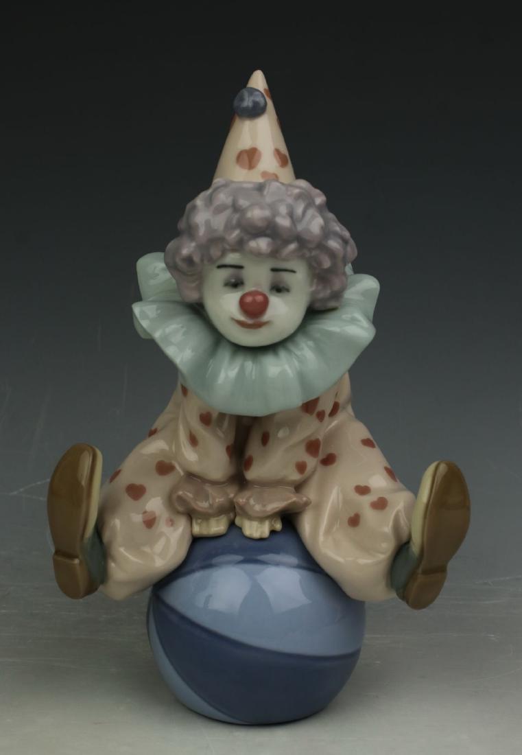 """Lladro Figurine 5813 Clown """"Having a Ball"""" LE"""