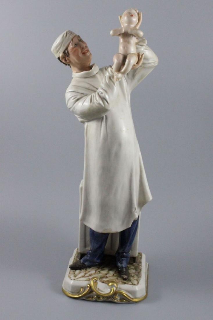 Capodimonte Bruno Merli Figurine Obstetritian