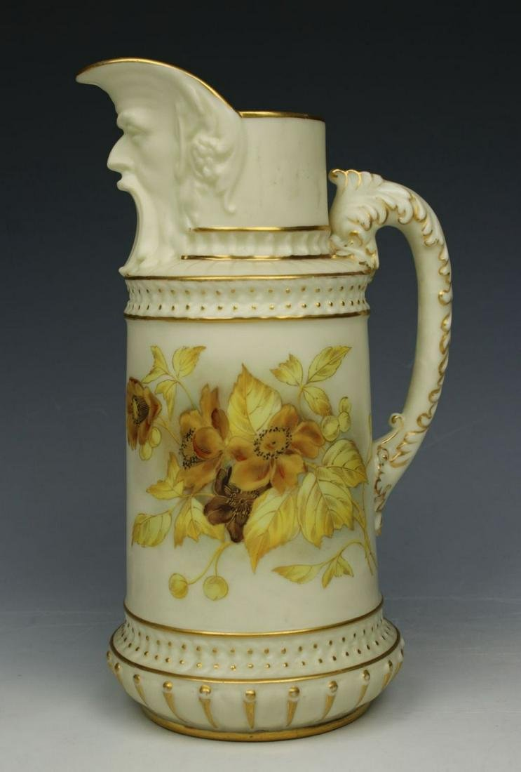 19C Royal Worcester 1366 Ewer Pitcher Jug