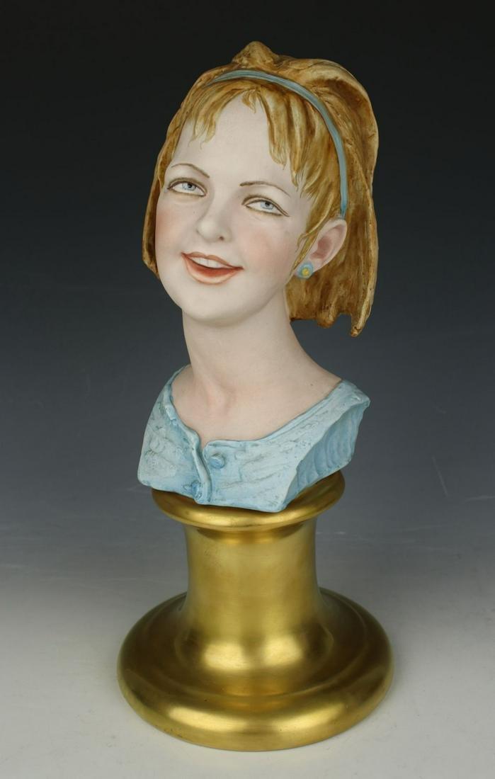 "Capodimonte Bruno Merli Figurine ""Bust of Girl"""
