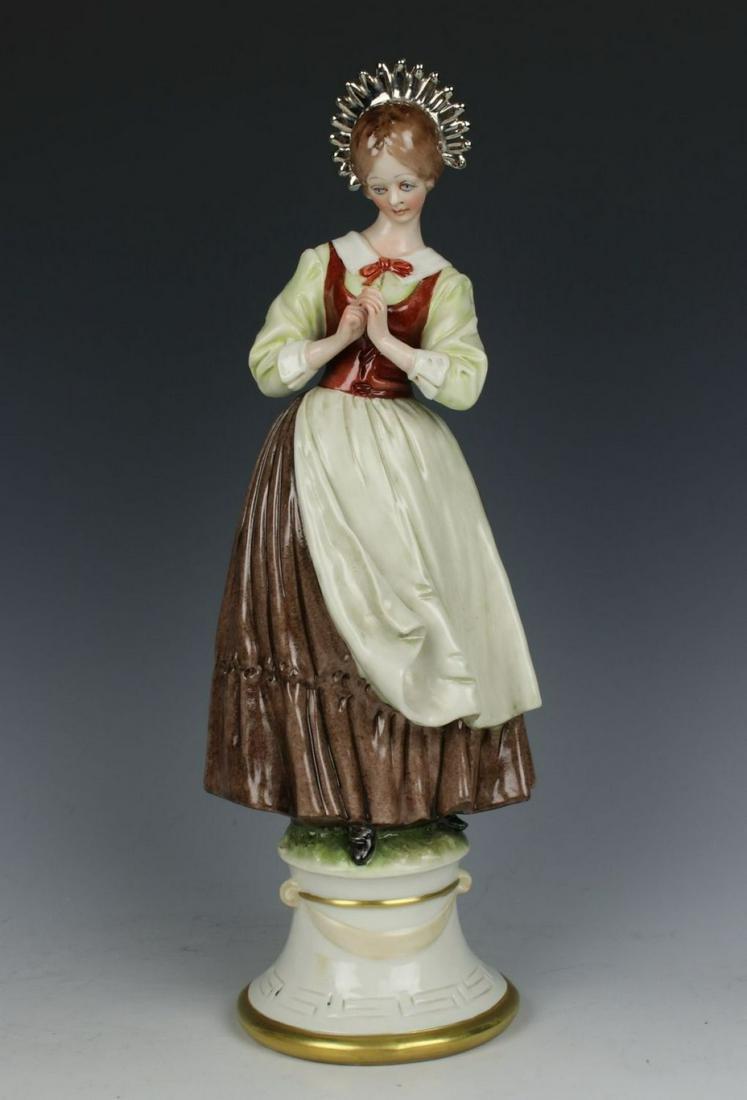 "Capodimonte Bruno Merli Figurine ""Praying Woman"""