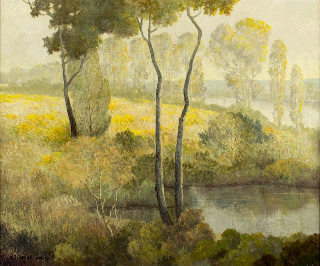 W Frederick Jarvis (TX,NY,CA,OH,1868-1944) oil painting