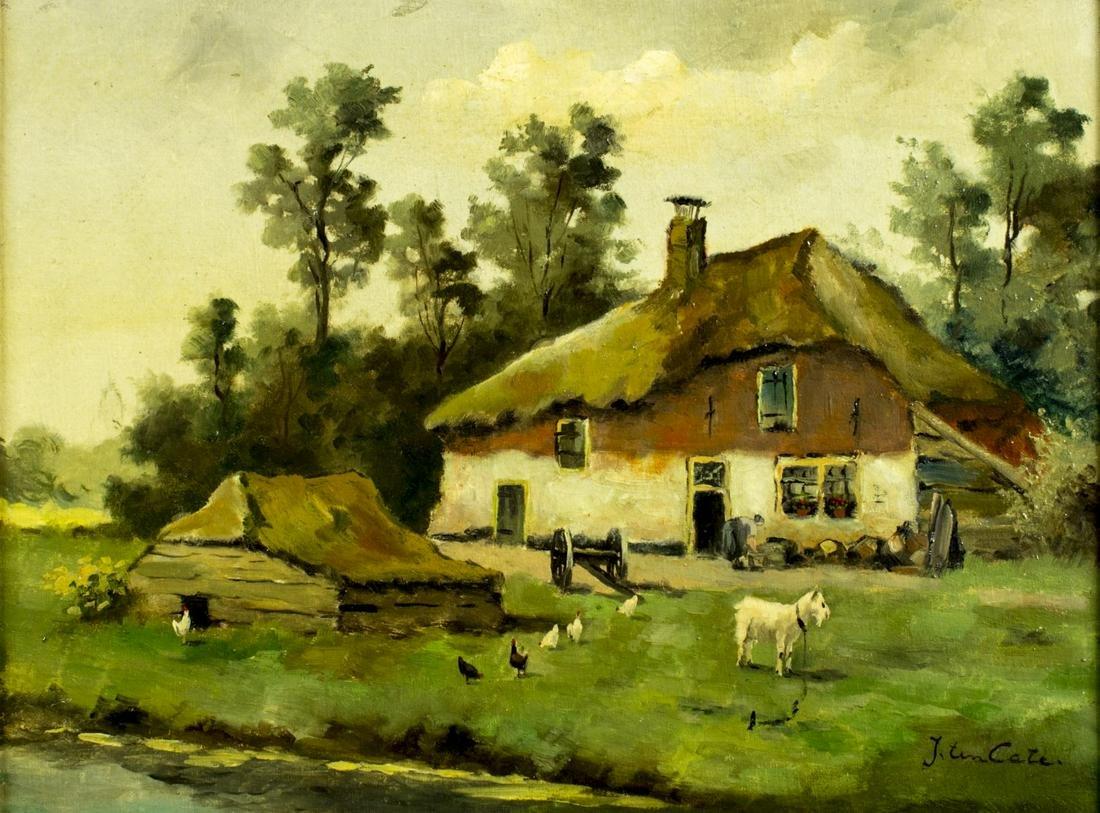 Hendrik Jan Ten Cate (dutch,1867-1955) oil painting