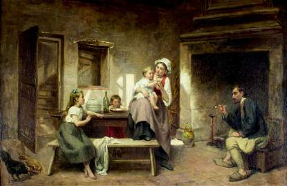 Leon Emile Caille (France,1836-1907) oil painting