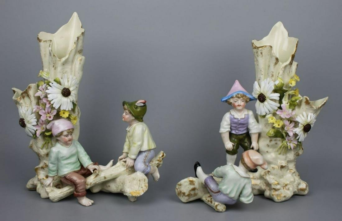 19C Sitzendorf couple of figurines