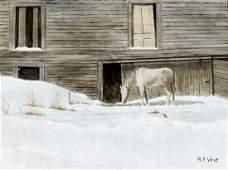 Robert F Vose (Maine,20C) oil painting