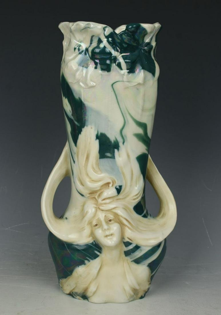 "19C Royal Dux figurine 5138 ""Vase with Head of Woman"""