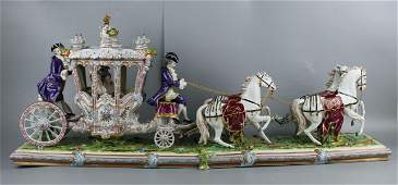 "37"" Dresden Volkstedt figurine ""Carriage"""