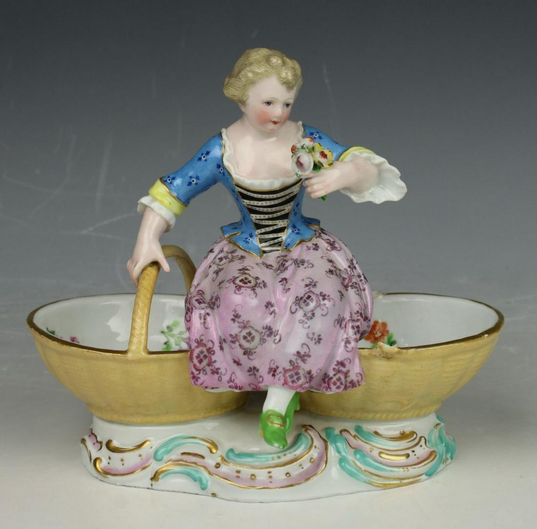 "Meissen Kaendler figurine 3024 ""Girl with Baskets"""