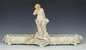 "19C Royal Worcester figurine ""Nude with Lizzard"""