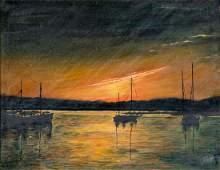E.J. Ripp (US,mid 20C) oil painting
