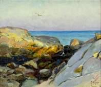 Mathias Alten (MI,CA,1871-1938) oil painting antique