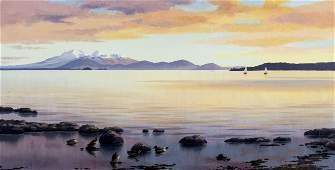 Val Raymond New Zealand20C oil painting