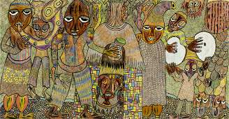 Prince Twins Seven-Seven (Nigeria,1944-2011) mixed