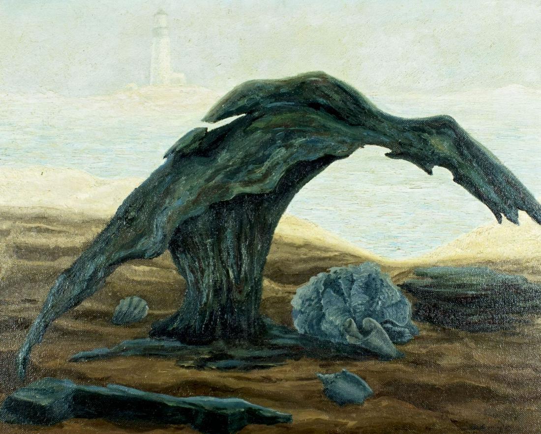 ATTR TO Dora Carrington (UK,1893-1932) oil painting