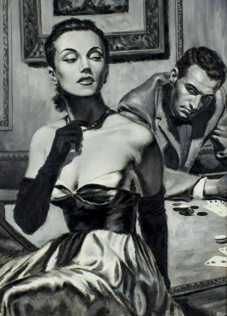 John Leone (NY,VA,1929-2011) gouache painting