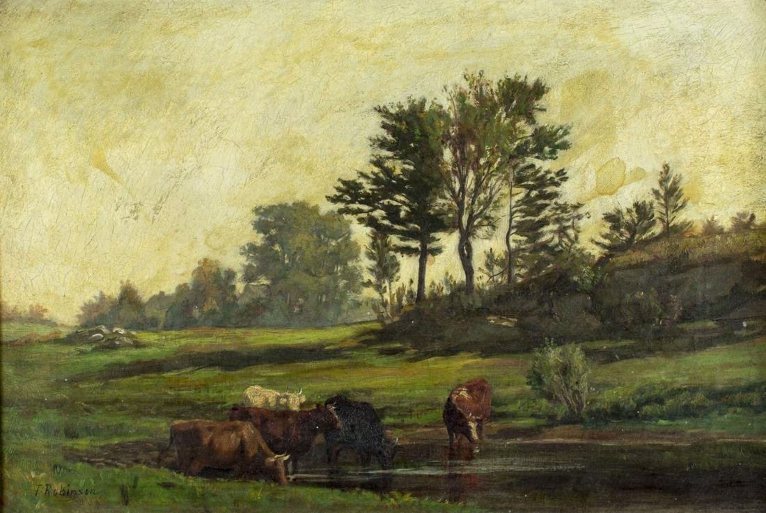 Thomas Harris Robinson (RI,Canada,1834-1888) oil