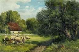 19C American oil painting antique