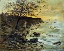 V Drashpil (US,early 20C) oil painting