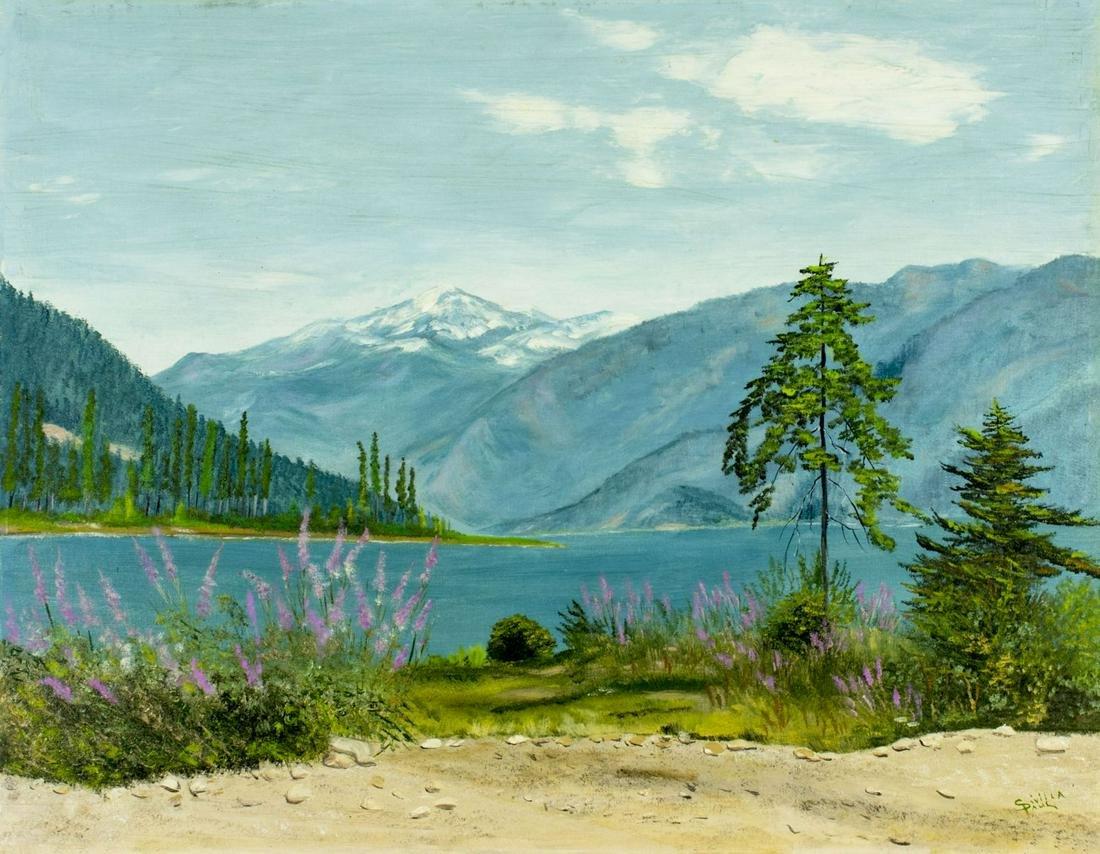 Sivilla Paulon (WA,mid 20C) oil painting