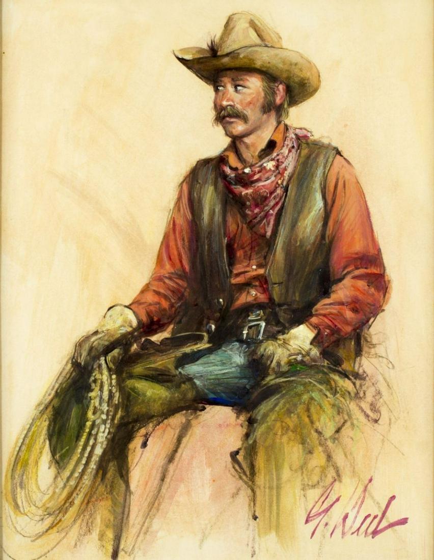 Guy Deel (California,1933-2005) oil on board