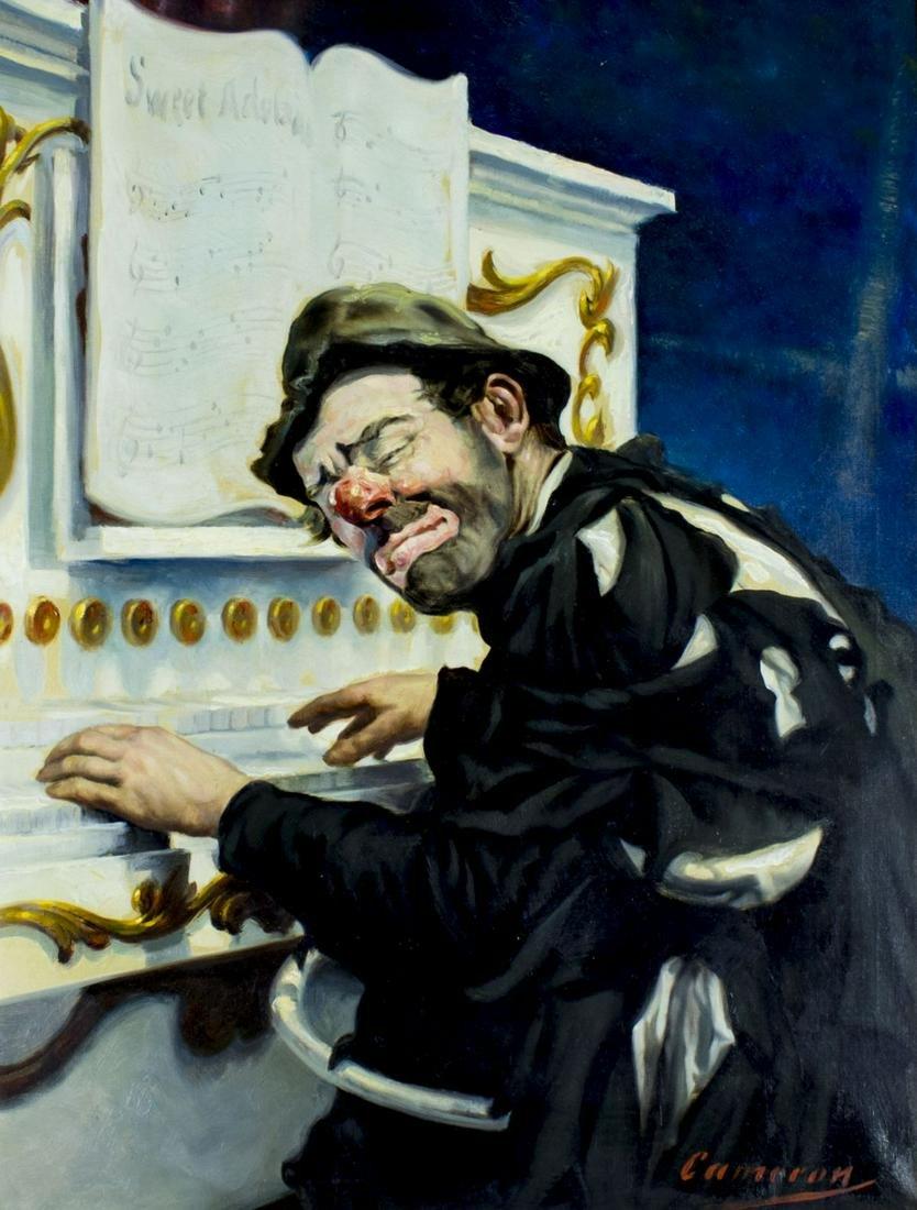 Cameron (US,mid 20C) oil painting