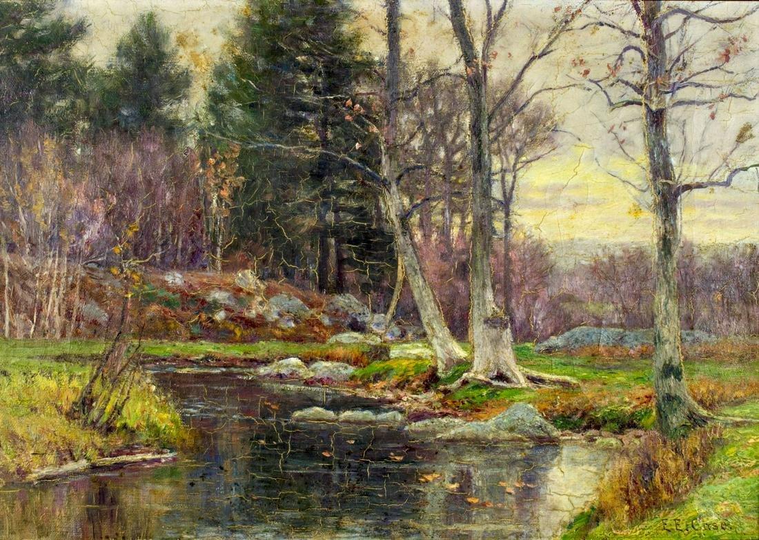Edmund Case (MA,CT,1844-1919) oil painting antique