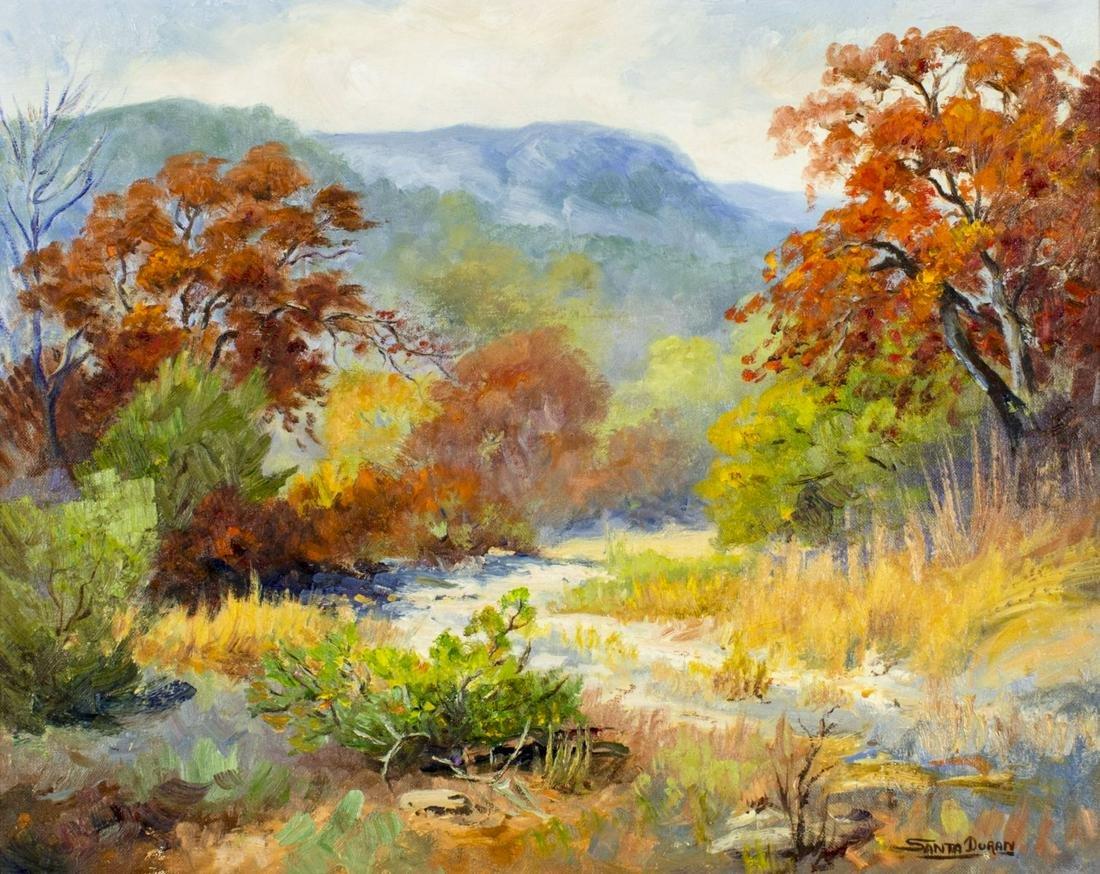 Santa Duran (TX,Mexico,1909-2002) oil painting