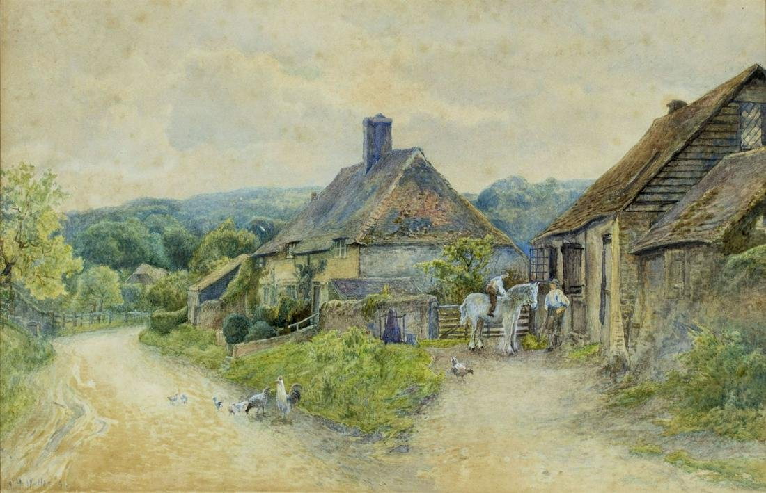 A Honeywood Waller (UK,19/20C) watercolor painting