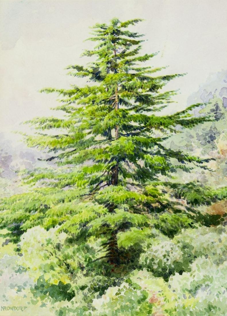 William Krondorf (NJ,FL,German,1878-1968) watercolor