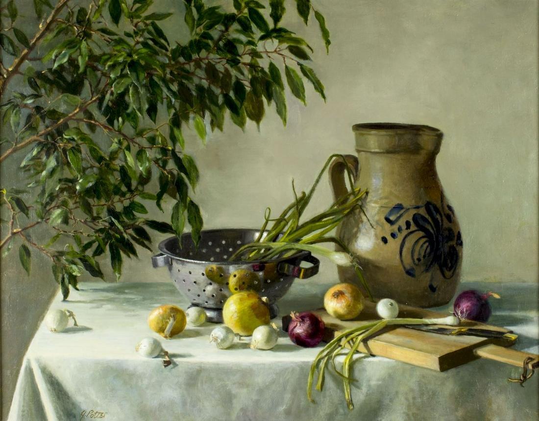 Joan Potter (NM,NY,Japan,born 1935) oil painting
