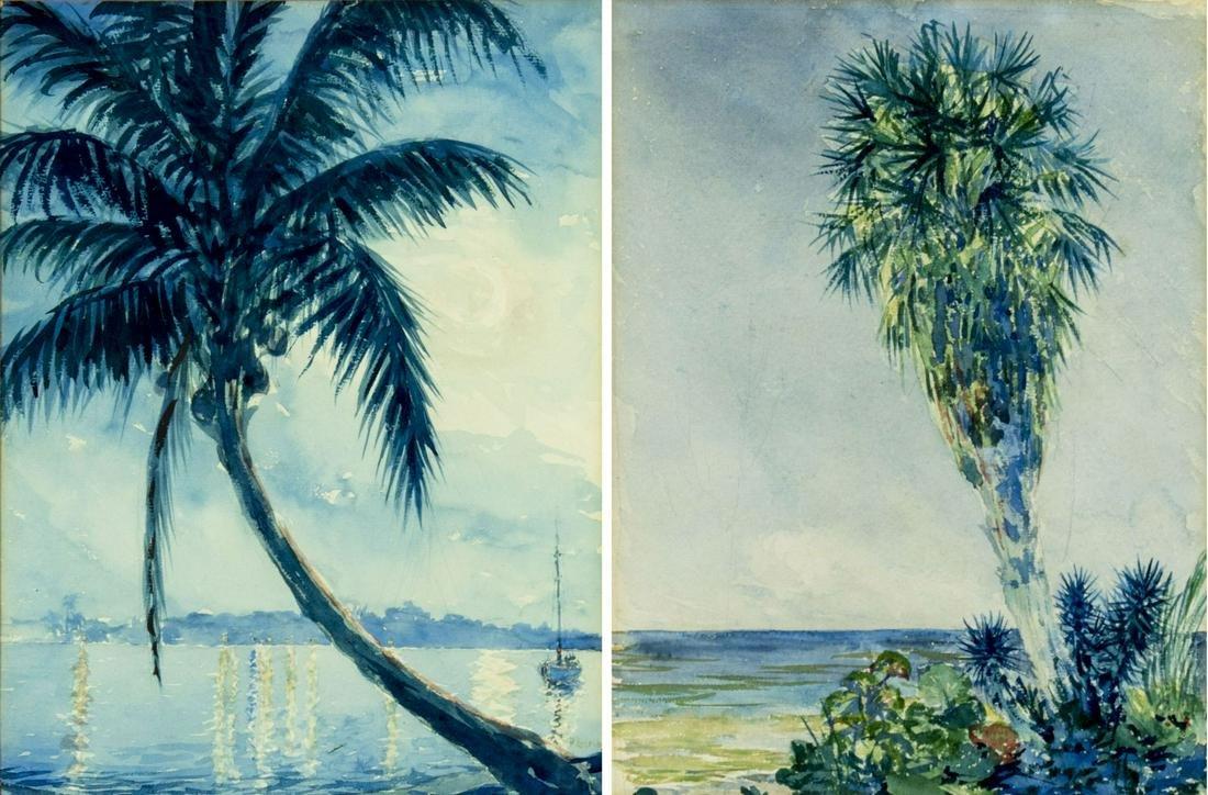Frank Gervasi (Texas,1895-1986) watercolors painting