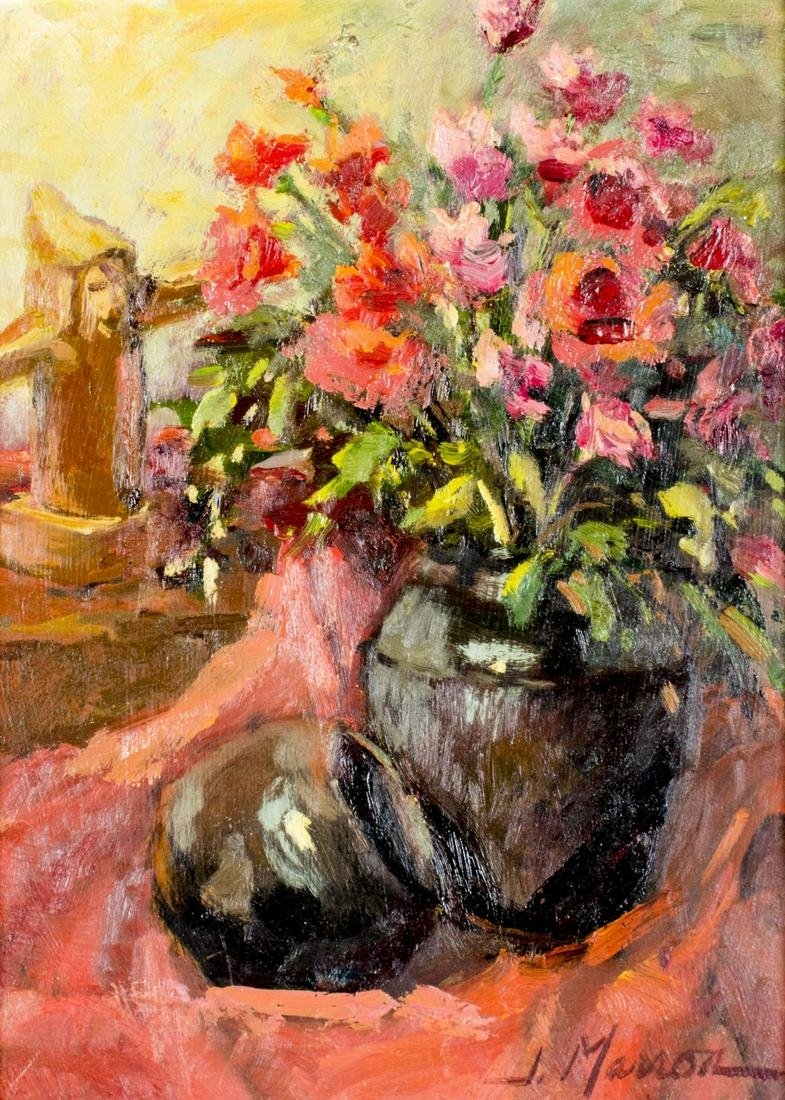 Joan Marron LaRue (OK,AZ,born 1934) oil painting